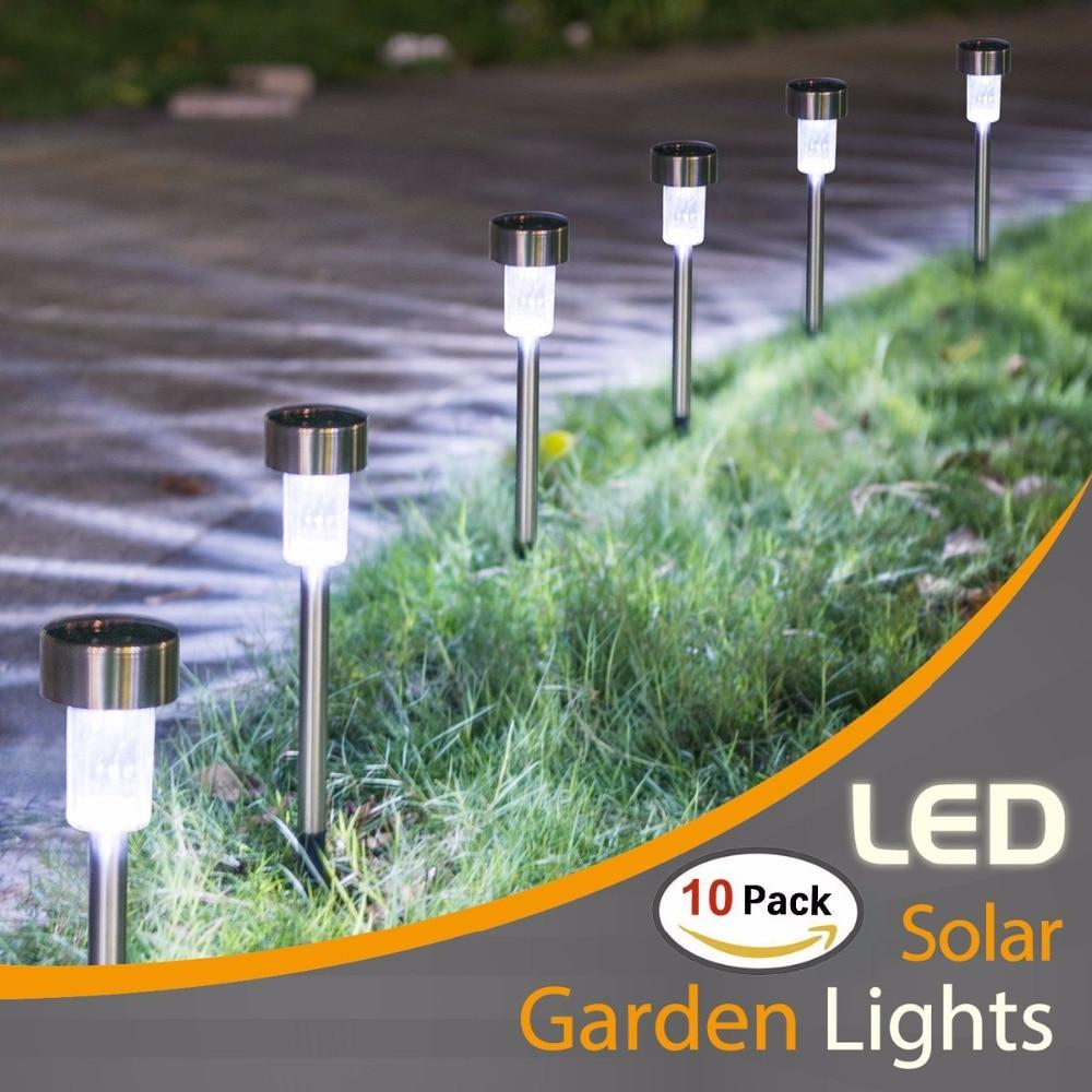 10PCS-Solar-Lights-Outdoor-LED-Solar-Garden-Pathway-Light-Warm-White-Multiple-Landscape-Light-For-Lawn